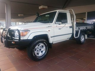 2017 Toyota Landcruiser VDJ79R GXL (4x4) French Vanilla 5 Speed Manual Cab Chassis
