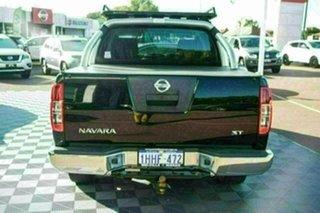 2012 Nissan Navara D40 S6 MY12 ST Black/Grey 5 Speed Sports Automatic Utility.