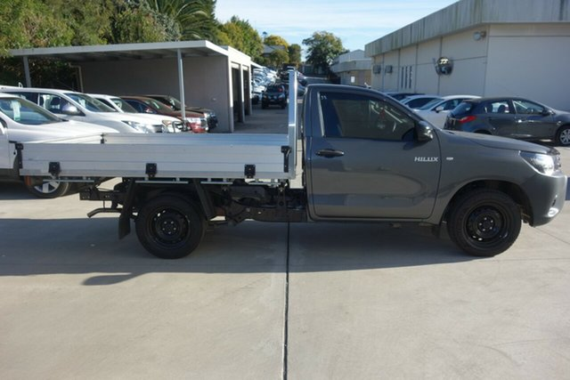 Used Toyota Hilux TGN121R Workmate 4x2 East Maitland, 2017 Toyota Hilux TGN121R Workmate 4x2 Grey 6 Speed Sports Automatic Cab Chassis