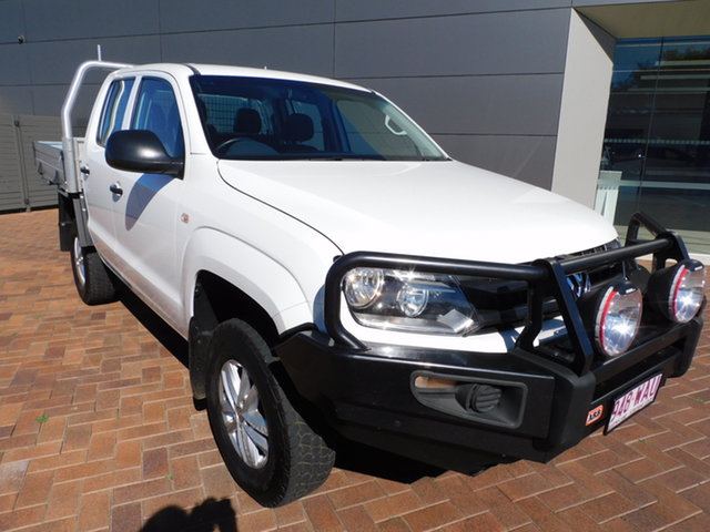 Used Volkswagen Amarok 2H MY15 TDI420 4MOTION Perm Core Toowoomba, 2015 Volkswagen Amarok 2H MY15 TDI420 4MOTION Perm Core White 8 Speed Automatic Cab Chassis