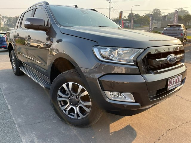 Used Ford Ranger PX MkII Wildtrak Double Cab Gympie, 2016 Ford Ranger PX MkII Wildtrak Double Cab Magnetic 6 Speed Sports Automatic Utility