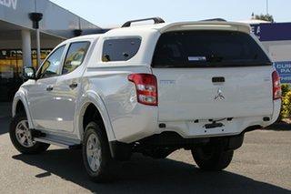 2016 Mitsubishi Triton MQ MY17 GLX Double Cab White Solid 5 Speed Sports Automatic Utility.