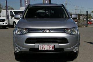 2013 Mitsubishi Outlander ZJ MY14 Aspire 4WD Cool Silver 6 Speed Sports Automatic Wagon