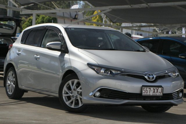 Used Toyota Corolla ZRE182R Ascent Sport S-CVT Bundamba, 2017 Toyota Corolla ZRE182R Ascent Sport S-CVT Silver 7 Speed Constant Variable Hatchback