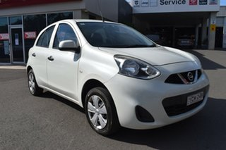 2015 Nissan Micra K13 Series 4 MY15 ST White 4 Speed Automatic Hatchback.