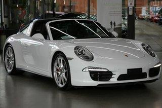2014 Porsche 911 991 MY15 4S PDK AWD White 7 Speed Sports Automatic Dual Clutch Targa