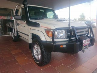 2017 Toyota Landcruiser VDJ79R GXL (4x4) French Vanilla 5 Speed Manual Cab Chassis.