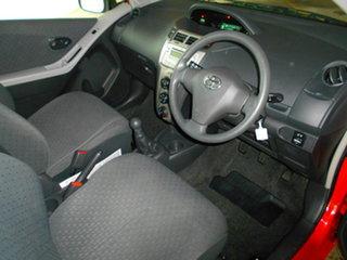 2008 Toyota Yaris NCP90R YR Red 5 Speed Manual Hatchback.