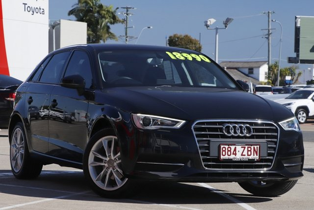 Pre-Owned Audi A3 8V Attraction Sportback S Tronic Albion, 2013 Audi A3 8V Attraction Sportback S Tronic Black 7 Speed Sports Automatic Dual Clutch Hatchback