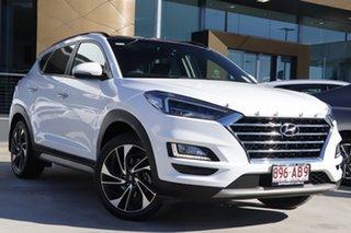 2018 Hyundai Tucson TL3 MY19 Highlander AWD White 8 Speed Sports Automatic Wagon.