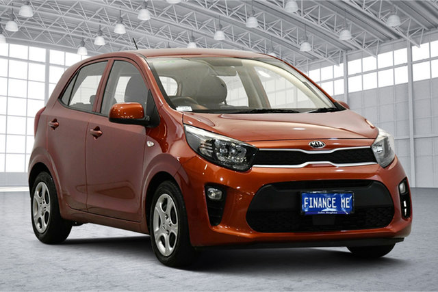 Used Kia Picanto JA MY18 S Victoria Park, 2018 Kia Picanto JA MY18 S Pop Orange 4 Speed Automatic Hatchback