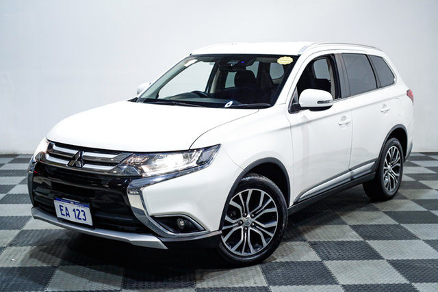 Used Mitsubishi Outlander ZK MY17 LS 4WD Safety Pack Edgewater, 2016 Mitsubishi Outlander ZK MY17 LS 4WD Safety Pack White 6 Speed Sports Automatic Wagon