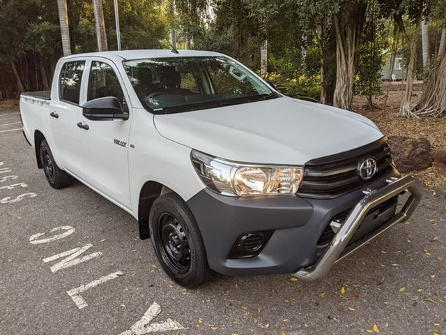 Used Toyota Hilux TGN121R Workmate Double Cab 4x2 Stuart Park, 2017 Toyota Hilux TGN121R Workmate Double Cab 4x2 White 5 Speed Manual Utility