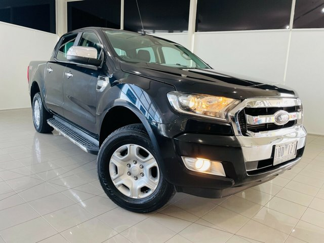 Used Ford Ranger PX MkII XLT Double Cab Deer Park, 2016 Ford Ranger PX MkII XLT Double Cab Black 6 Speed Sports Automatic Utility
