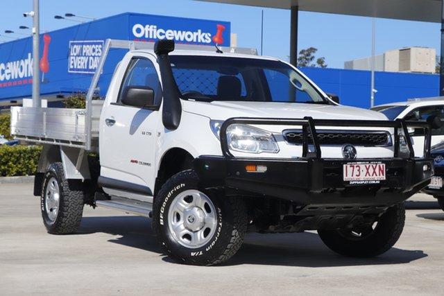 Used Holden Colorado RG MY13 DX Aspley, 2013 Holden Colorado RG MY13 DX White 5 Speed Manual Cab Chassis
