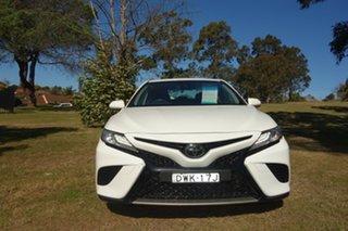 2018 Toyota Camry ASV70R SX White 6 Speed Sports Automatic Sedan.