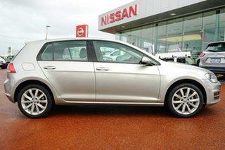 2013 Volkswagen Golf VII 103TSI DSG Highline Silver 7 Speed Sports Automatic Dual Clutch Hatchback.