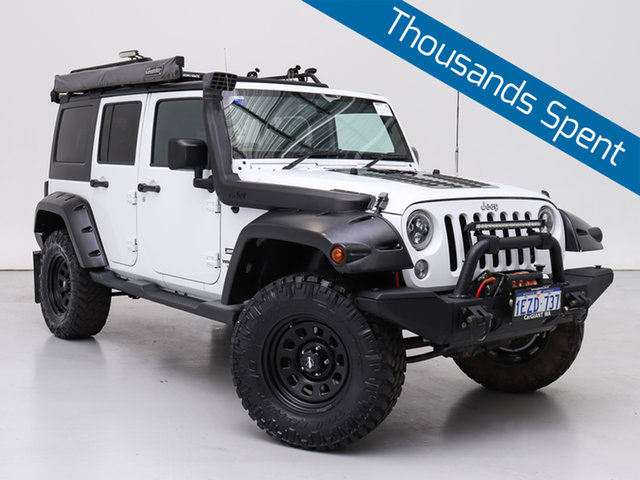 Used Jeep Wrangler Unlimited JK MY15 Sport (4x4), 2015 Jeep Wrangler Unlimited JK MY15 Sport (4x4) White 6 Speed Manual Softtop