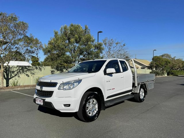 Used Holden Colorado RG MY14 LX Chermside, 2013 Holden Colorado RG MY14 LX White 6 Speed Automatic Spacecab