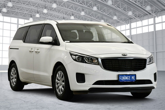 Used Kia Carnival YP MY18 S Victoria Park, 2017 Kia Carnival YP MY18 S Clear White 6 Speed Sports Automatic Wagon