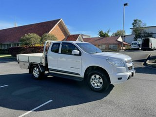 2013 Holden Colorado RG MY14 LX White 6 Speed Automatic Spacecab