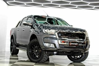 2016 Ford Ranger PX MkII MY17 XLT 3.2 Hi-Rider (4x2) Grey 6 Speed Automatic Crew Cab Pickup.