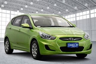 2012 Hyundai Accent RB Active Green 4 Speed Sports Automatic Hatchback.