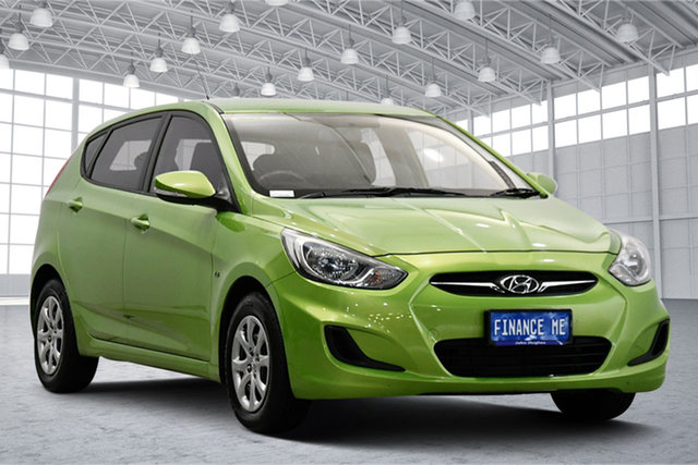 Used Hyundai Accent RB Active Victoria Park, 2012 Hyundai Accent RB Active Green 4 Speed Sports Automatic Hatchback