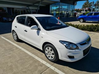 2011 Hyundai i30 FD MY11 SX White 4 Speed Automatic Hatchback.