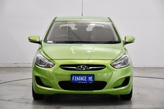 2012 Hyundai Accent RB Active Green 4 Speed Sports Automatic Hatchback
