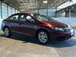 2013 Honda Civic 9th Gen Ser II MY13 VTi-L Red 5 Speed Sports Automatic Sedan.