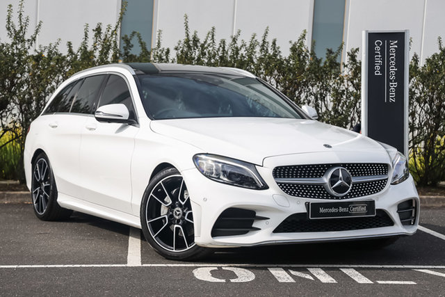 Certified Pre-Owned Mercedes-Benz C-Class S205 809MY C220 d Estate 9G-Tronic Mulgrave, 2019 Mercedes-Benz C-Class S205 809MY C220 d Estate 9G-Tronic Polar White 9 Speed Sports Automatic