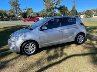 2011 Hyundai i20 PB MY11 Active Silver 5 Speed Manual Hatchback.