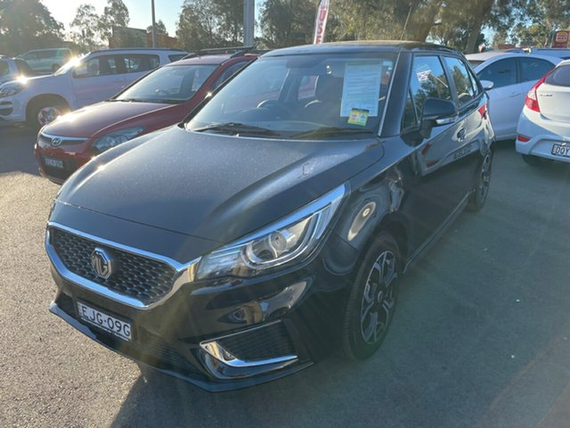 Used MG MG3 SZP1 MY20 Excite Maitland, 2020 MG MG3 SZP1 MY20 Excite Black 4 Speed Automatic Hatchback