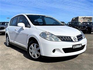 2010 Nissan Tiida C11 MY07 ST White 6 Speed Manual Hatchback.