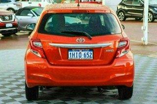 2015 Toyota Yaris NCP130R Ascent Orange 4 Speed Automatic Hatchback
