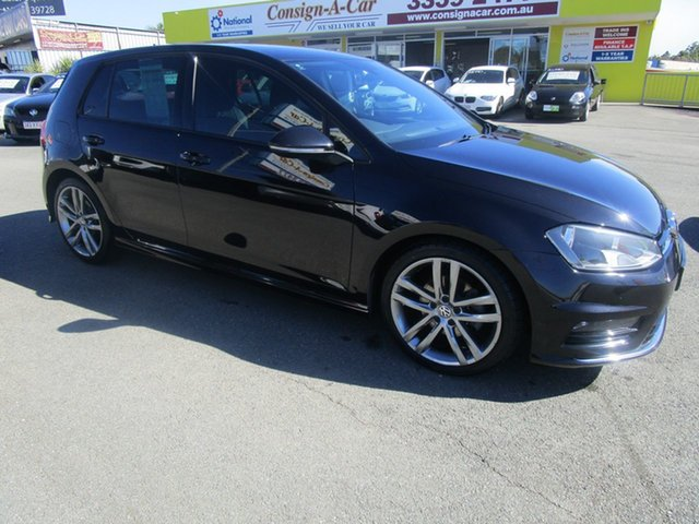 Used Volkswagen Golf VII MY14 103TSI DSG Highline Kedron, 2014 Volkswagen Golf VII MY14 103TSI DSG Highline Black 7 Speed Sports Automatic Dual Clutch