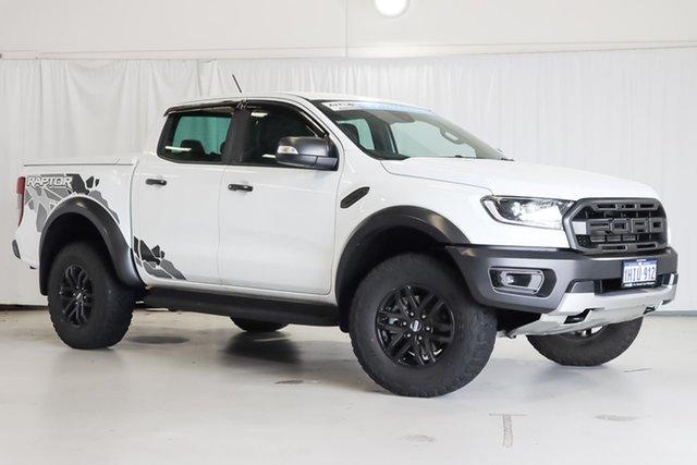 Used Ford Ranger PX MkIII 2019.00MY Raptor Wangara, 2018 Ford Ranger PX MkIII 2019.00MY Raptor White 10 Speed Sports Automatic Utility