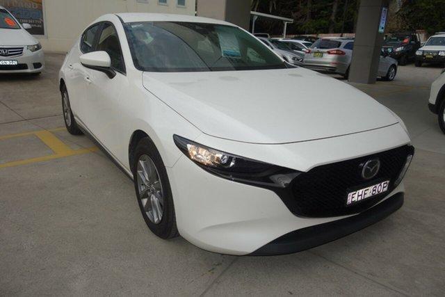 Used Mazda 3 BP2H76 G20 SKYACTIV-MT Pure East Maitland, 2020 Mazda 3 BP2H76 G20 SKYACTIV-MT Pure White 6 Speed Manual Hatchback