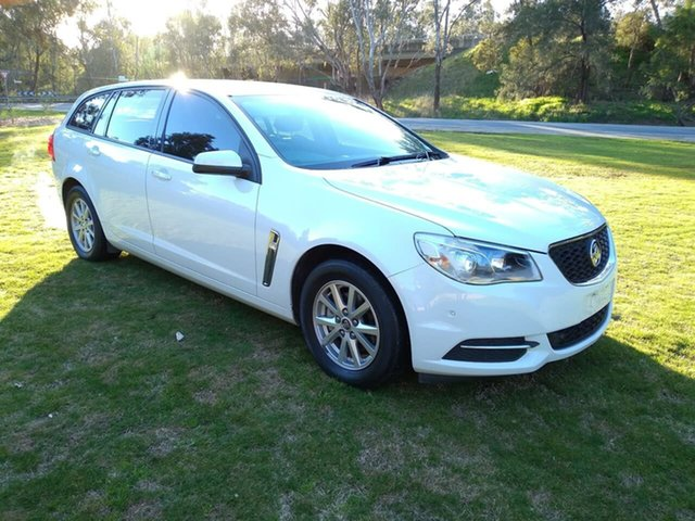 Used Holden Commodore VF II MY17 Evoke Sportwagon Wodonga, 2017 Holden Commodore VF II MY17 Evoke Sportwagon White 6 Speed Sports Automatic Wagon