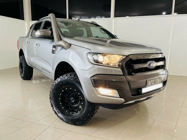 Used Ford Ranger PX MkII Wildtrak Double Cab Deer Park, 2015 Ford Ranger PX MkII Wildtrak Double Cab Grey 6 Speed Sports Automatic Utility