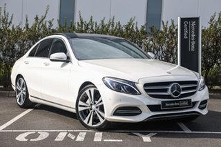 2014 Mercedes-Benz C-Class W205 C250 BlueTEC 7G-Tronic + Diamond White 7 Speed Sports Automatic.