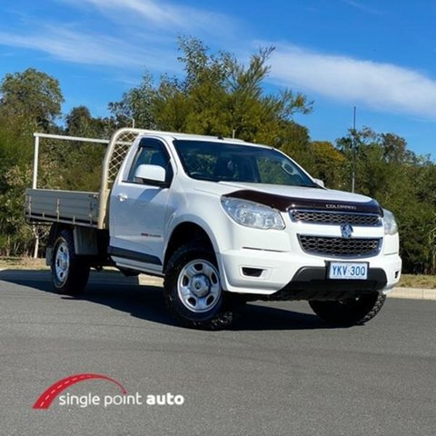 Used Holden Colorado RG MY15 LS Chevallum, 2015 Holden Colorado RG MY15 LS White 6 Speed Sports Automatic Cab Chassis