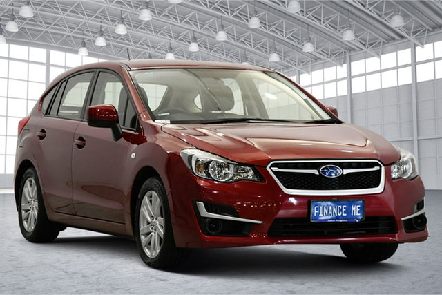 Used Subaru Impreza G4 MY15 2.0i Lineartronic AWD Victoria Park, 2015 Subaru Impreza G4 MY15 2.0i Lineartronic AWD Venetian Red 6 Speed Constant Variable Hatchback