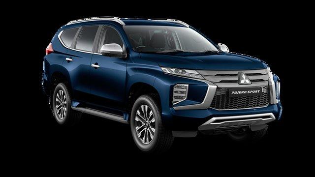 New Mitsubishi Pajero Sport QF MY21 GLS Hamilton, 2021 Mitsubishi Pajero Sport QF MY21 GLS Dark Blue 8 Speed Sports Automatic Wagon