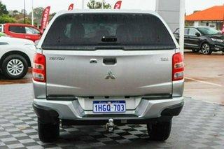 2017 Mitsubishi Triton MQ MY18 GLX+ Double Cab Silver 5 Speed Sports Automatic Utility