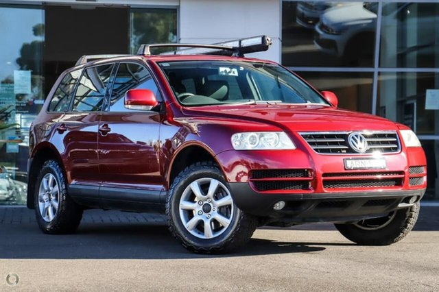 Used Volkswagen Touareg 7L 4XMotion Sutherland, 2004 Volkswagen Touareg 7L 4XMotion Red 6 Speed Sports Automatic Wagon