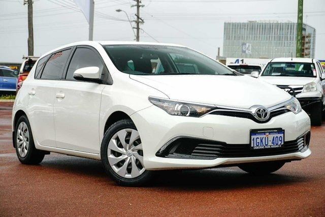 Used Toyota Corolla ZRE182R Ascent S-CVT Osborne Park, 2017 Toyota Corolla ZRE182R Ascent S-CVT White 7 Speed Constant Variable Hatchback