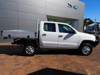 2015 Volkswagen Amarok 2H MY15 TDI420 4MOTION Perm Core White 8 Speed Automatic Cab Chassis.