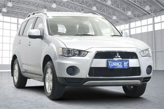 2012 Mitsubishi Outlander ZH MY12 LS Silver 6 Speed Constant Variable Wagon.